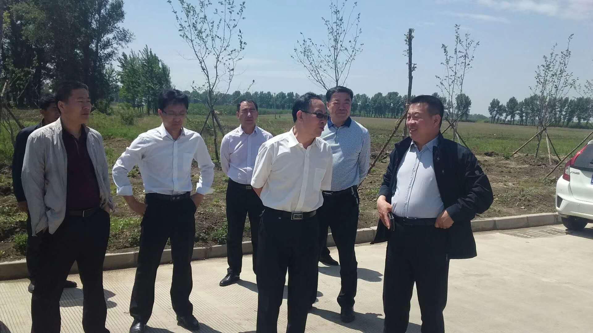 5月24日市委督查室领导深入第五工业园了解今年项目进展情况