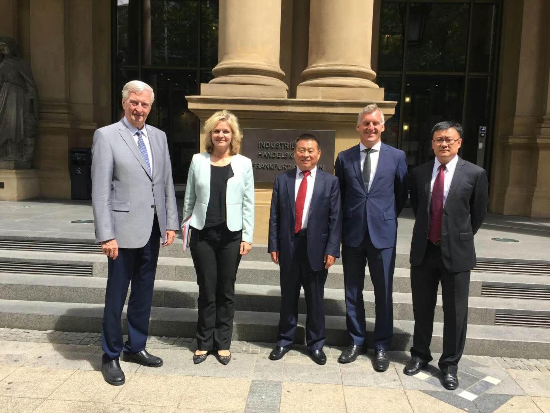 6月18日董事长拜访德国法兰克福工商联合会。